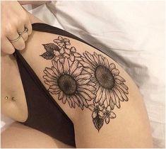 Sunflower Tattoo Designs Black And White Spiritualtattoos Click For More