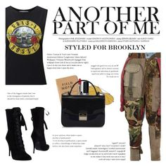 """""""How to Style a Band T-Shirt with Patchwork Pants for Travel to Brooklyn, NY"""" by outfitsfortravel ❤ liked on Polyvore featuring Miss Selfridge, Christian Dior, Alexander McQueen, Furla, Balmain and RVDK"""