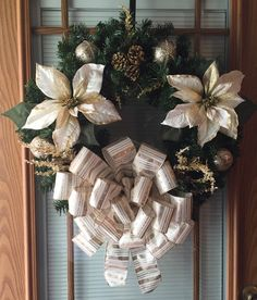 A personal favorite from my Etsy shop https://www.etsy.com/listing/165261070/gold-christmas-wreath