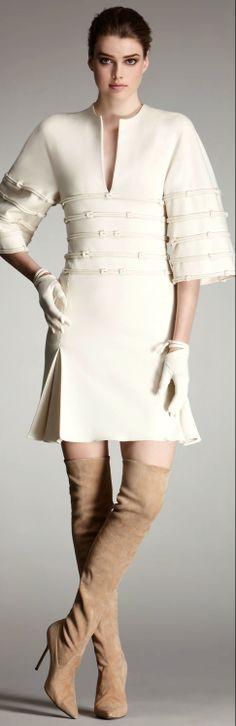 Chado Ralph Rucci ●  Wool  Kimono Dress