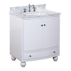 KITCHENBATHCOLLECTION Palazzo 30-inch Vanity (Carrara/White) $ 849.99
