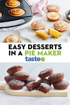 Forget pies, these desserts are made easier in your pie maker. Think lemonade scones, chocolate brownies and even a condensed milk French toast! Mini Pie Recipes, Sweet Recipes, Baking Recipes, Breville Pie Maker, Easy Desserts, Dessert Recipes, Australian Food, Mini Pies, How Sweet Eats