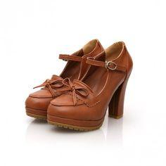Indressme | Lolita vintage bow shoes