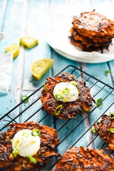 Pan-Fried Green Onion and Sweet Potato Fritters