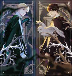 """rewatched Harry Potter moives,fall in love with""""Drarry""""again. Harry Potter Fan Art, Harry Potter Anime, Harry Potter Draco Malfoy, Harry Potter Drawings, Harry Potter Ships, Harry Potter Fandom, Harry Potter Universal, Harry Potter Memes, Ginny Weasley"""