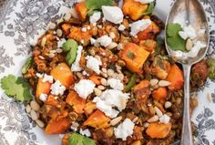 Roasted Butternut Squash with Spiced Lentils, Feta and Pine Nuts March 16, 2014 by vikalinka 8 Comments