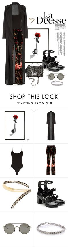 """I'd like... #540"" by m-rossetti ❤ liked on Polyvore featuring Roberto Cavalli, Sho, McQ by Alexander McQueen, Andrew Gn, Mykita, Annello, bodysuit, coat and maryjane"