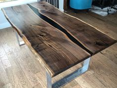"""5,774 Likes, 104 Comments - Black Forest Wood Co. (@blackforestwoodco) on Instagram: """"Walnut resin river table  Delivered to its new home """""""