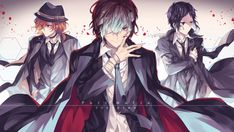 Port Mafia Bungo Stray Dogs Dazai Chuya and Ryunosuke Wallpaper