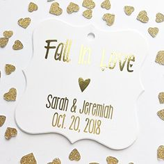 "Fall In Love Autumn Theme Color Foil Wedding/Event/Celebration Favor Hang Tags (FS-013-F)  ""Fall in Love"" Customized and personalized 2.5"" x 2.5"" or a smaller 2"" x 2"" cardstock favor tags with REAL foil lettering, perfect to your celebration favors.  Make your customization choices and personalizations from the menus to the appropriate. For tag quantities more than listed, make a choice the https://sports.boutiquecloset.com/product/fall-in-love-autumn-theme-color-foil-wedding"