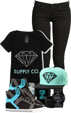 """Diamond Supply"" by krazi-tee ❤ liked on Polyvore"