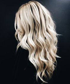 Blonde waves.