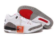 e636a1f13d7d Air Jordan 3 GS White Fire Red-Cement Grey-Black Womens