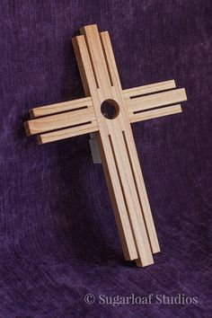 Cross Light  Night Light  Handmade Natural by SugarloafWoodworks