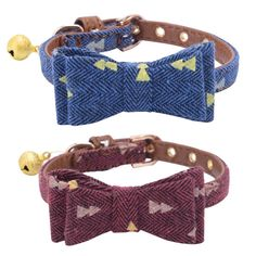 2 pcs/set Adjustable Bowtie Small Dog Collar with Bell Charm 8-10' PUPTECK *** Want additional info? Click on the image. (This is an affiliate link and I receive a commission for the sales)