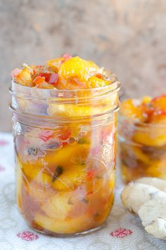 Fresh Peach Chutney - serve over top pork chops or satisfy your beginner's appetite on cheese and crackers.