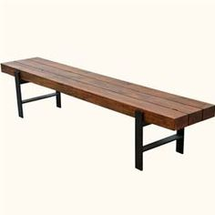 contemporary industrial furniture. rustic industrial beam block iron base solid wood dining bench modern furniturerustic contemporary furniture