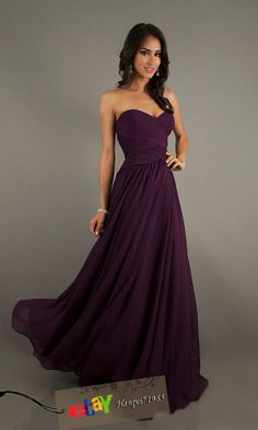 Sweetheart Chiffon Bridesmaid dress Party Prom Dress Formal Evening Ball Gown