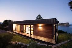Situated on a sloping site, the module touches the earth lightly and is elevated…