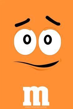 orange m&m wallpaper Orange Wallpaper, Cartoon Wallpaper Iphone, Images Wallpaper, Disney Wallpaper, Cute Wallpapers, Wallpaper Backgrounds, Iphone Wallpapers, M & M Chocolate, Chocolate Orange