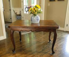 Antique Country French Oak Dining Table with Draw Leaf and Lovely Parquet Top French Table, French Chairs, French Oak, Country French, Leaf Drawing, Dining Table Chairs, Modern Chairs, French Antiques, Vintage Furniture
