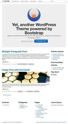 Origines, un Theme WordPress fièrement propulsé par Bootstrap