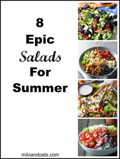 These salads are so delicious you will want to eat them all summer long! These recipes have turned me into a salad fanatic!