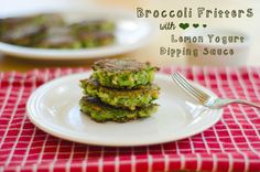 Broccoli Fritters With Lemon Yogurt Dipping Sauce | So...Lets Hang Out