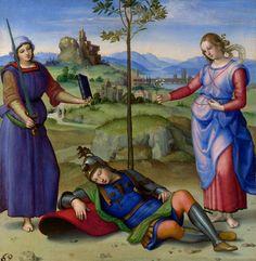 File:RAFAEL - Sueño del Caballero (National Gallery de Londres, 1504. Óleo sobre tabla, 17 x 17 cm).jpg