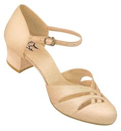 Aris Allen Tan Satin 1920s d'Orsay Dance Sandal Low Heel Shoes   http://www.vintagedancer.com/1920s/buy-1920s-shoes-for-women/