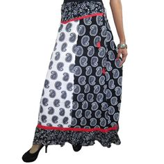 Mogul Women's Skirt Black White Paisley Print Peasant Maxi Long Skirts    https://www.walmart.com/search/?query=MOGUL%20INTERIOR%20SKIRT