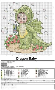 Cross stitch -dragonbaby