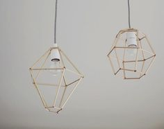DIY: Pendants Lights Made from Drinking Straws (for Less Than $20): Remodelista