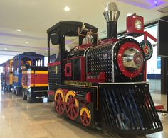 Trains For Sale, Monster Trucks, Fiber, Fiestas, Log Projects, Playgrounds, Shopping Center, Trains, Xmas