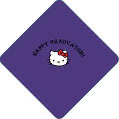 Happy Graduation! Hello Kitty Professionally Printed Graduation Caps #hellokitty #graduation