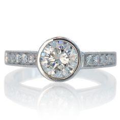 Bezel+Set+Diamond+Engagement+Wedding+Ring+by+SAMnSUE+on+Etsy,+$7990.00
