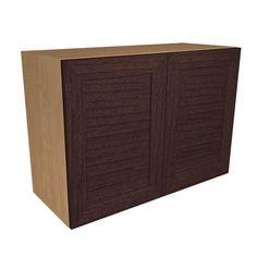 Ready to Assemble 36x21x12 in. Livorno Wall Cabinet with 2 Soft Close Doors in Espresso, Espresso  Melamine
