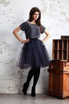 Tulle skirt  GRACE  Freedom collection // grey / brown tutu