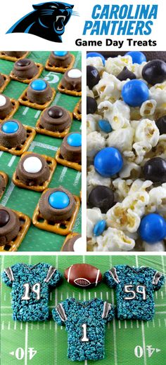 If you are a Carolina Panthers fan and it is Game Day, you'll want to make one (or all) of our Carolina Panthers Game Day Treats for your football watching family members. These are fun Blue and Black football desserts that are perfect for a game day football party, an NFL playoff party or (hopefully!!!) a Super Bowl party. Follow us for more fun Super Bowl Food Ideas.