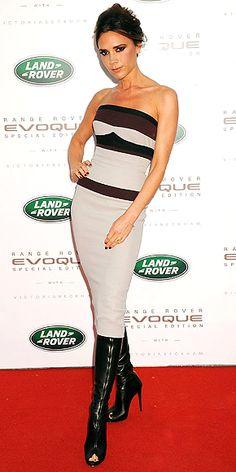 Victoria Beckham. peep toe boots work really well .