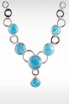 Larimarket - MarahLago Ellora Collection Larimar Necklace, $795.00 (http://www.larimarket.com/marahlago-ellora-collection-larimar-necklace/)