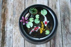 Miniature Koi Pond in Resin. $21.00, via Etsy.
