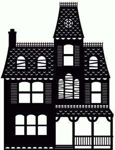 Silhouette Design Store - View Design #66940: haunted house 1 piece silhouette