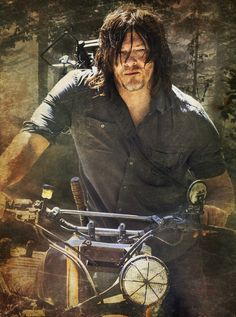 *Pic Daryl Dixon by Carrion* Daryl Twd, Daryl And Rick, Daryl Dixon Walking Dead, Walking Dead Memes, The Walking Dad, Fear The Walking Dead, Friday Meme, Funny Friday, Katelyn Nacon