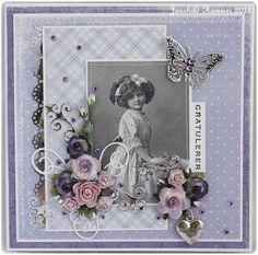 Album Vintage, Vintage Scrapbook, Vintage Cards, Scrapbook Cards, Heritage Scrapbooking, Vintage Birthday Cards, Shabby Chic Cards, Scrapbook Sketches, Congratulations Card
