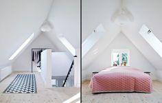 loft ombygget til soveværelse
