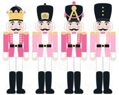 Jls: red vs pink Clip Art Set Nutcrackers Christmas by papertreehousestudio Nutcracker Image, Nutcracker Decor, Nutcracker Soldier, Nutcracker Christmas, Office Christmas, Pink Christmas, Christmas Holidays, Christmas Crafts, Christmas Outfits