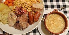 COCIDO MADRILEÑO FUSSIONCOOK: Poner en la cubeta, 300/400gr garbanzos en remojo, chorizo, tocino, carne de morcillo, hueso de jamon,sal, agua (la que se quiera para hacer luego la sopa).  Opcional:gallina,morcilla,patata,zanahoria. Menu guiso, 20-30mn alta presion. Al acabar, sacar los ingredientes y verter los fideos en el caldo, Menu pasta 1mn. Acompañar de berza cocida.(opcional)