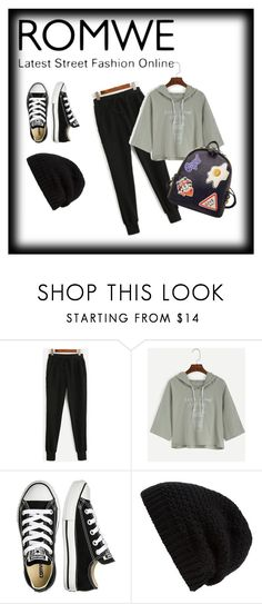 """""""keep it simple"""" by luanna98 ❤ liked on Polyvore featuring Converse, Rick Owens and WithChic"""