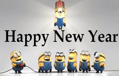Sweet Minions Happy New Year Greetings Images New Year Wishes Funny, Happy New Year Poem, New Year Quotes Funny Hilarious, Happy New Year Funny, New Year Wishes Messages, Happy New Year Pictures, Happy New Year 2018, Happy New Year Greetings, Funny Happy